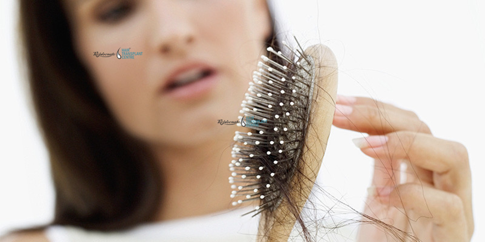 What factors are responsible for hair fall in women and how it can be controlled?