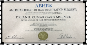 Dr. Anil Garg ABHRS Certificate