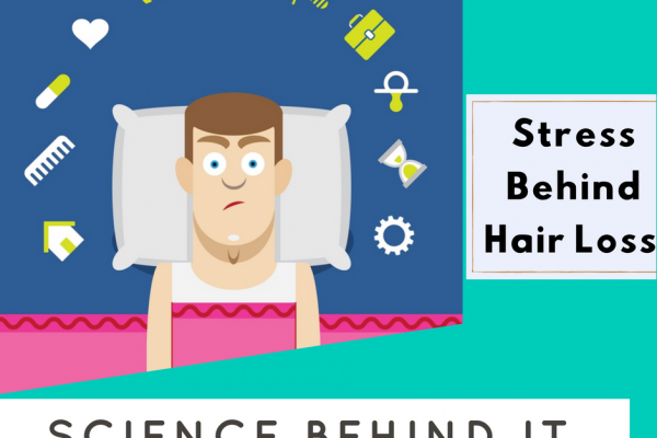stress behind hair loss