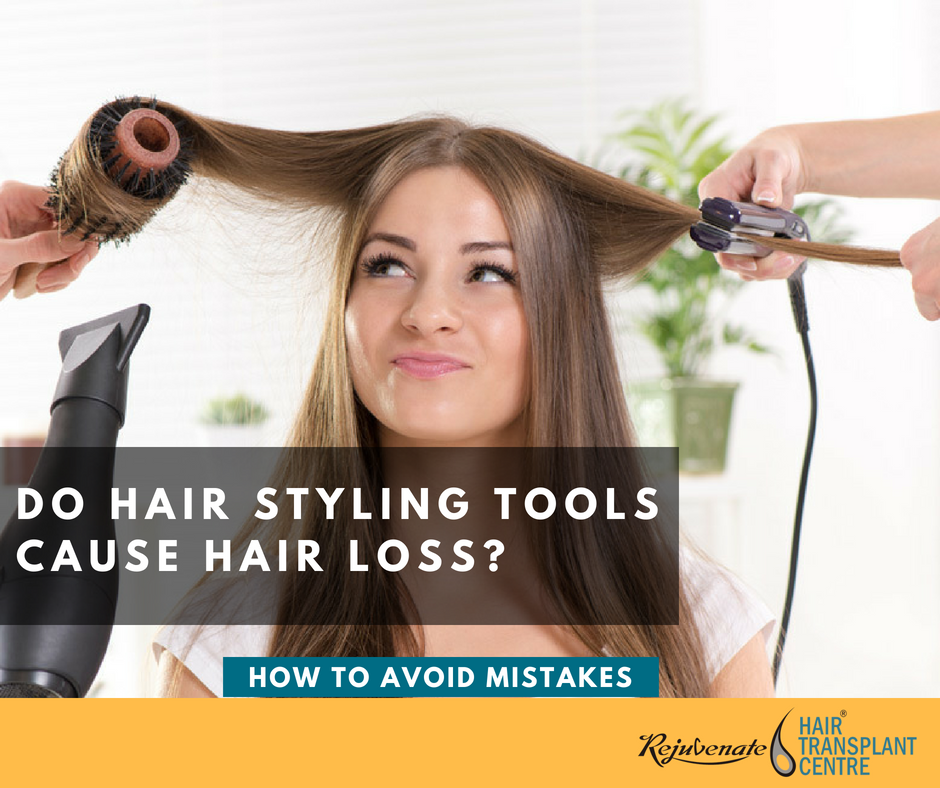 hair styling tools causes hair loss