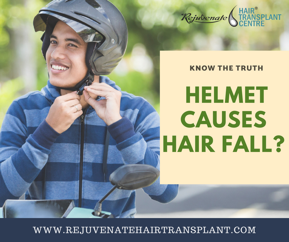 helmet causes hairfall