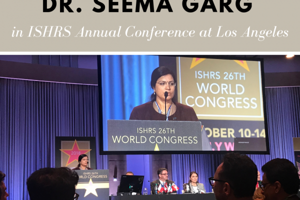 Dr. Seema Garg in 26th ISHRS World Congress