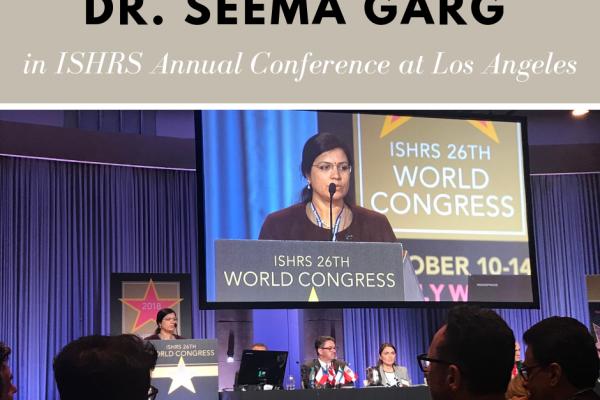 Dr. Seema Garg in 26th ISHRS World Congress