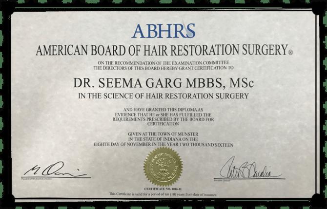 Dr Seema Garg ABHRS