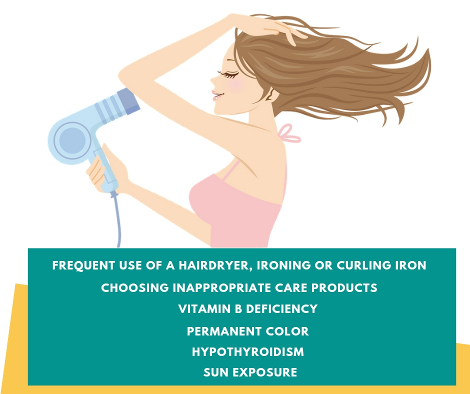 dry hair loss