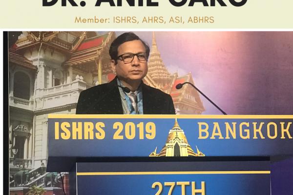 Dr. Anil Garg, Bangkok, ISHRS 2019