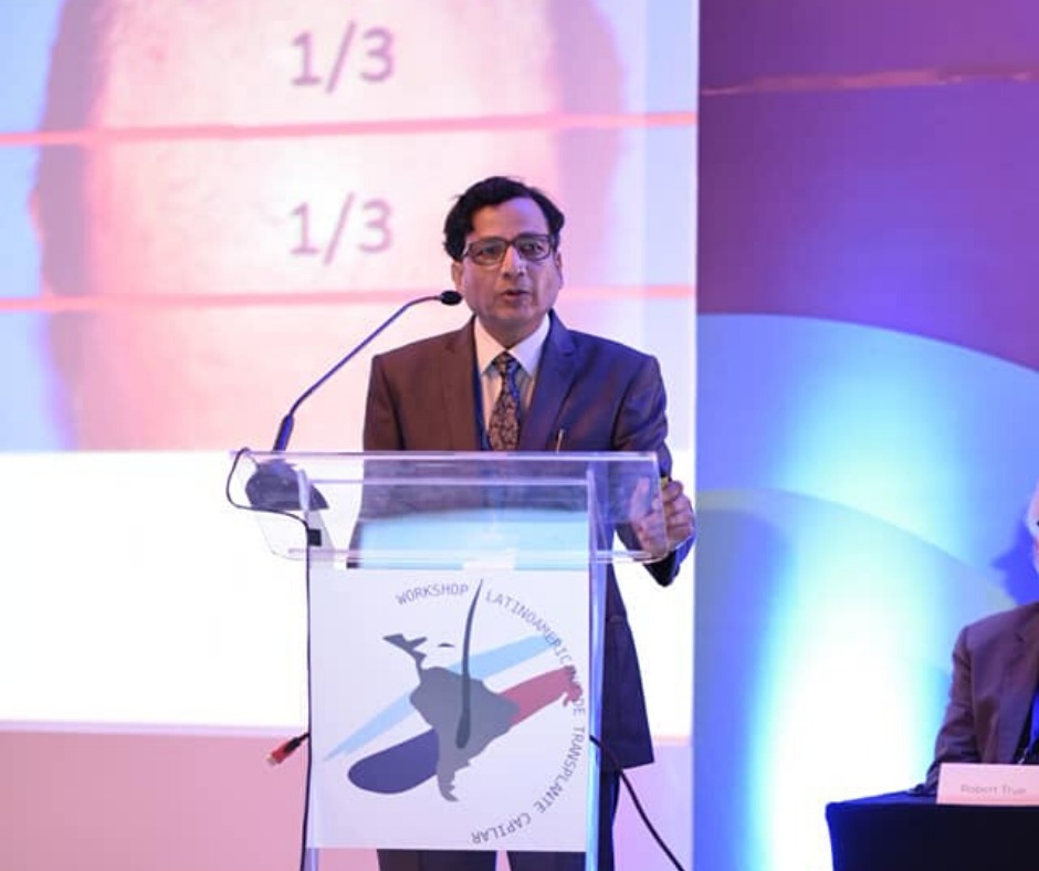 Dr. Anil Garg from India, spoken at 6th latin-american FUE workshop