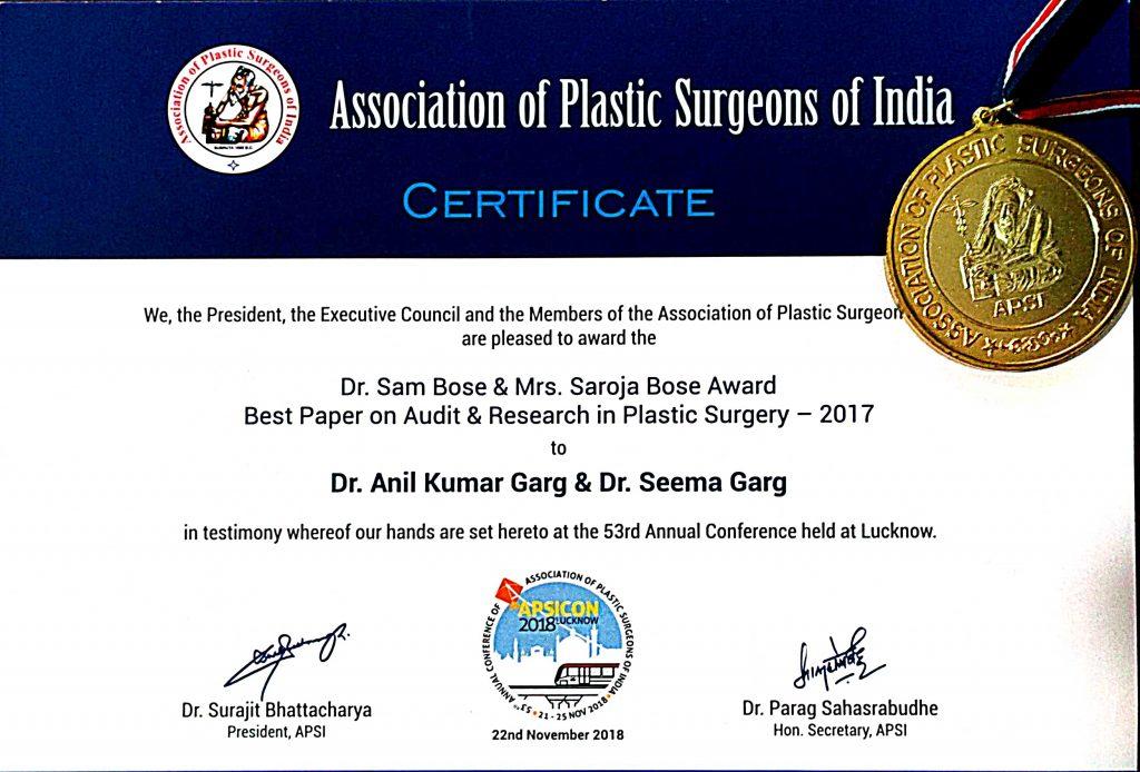 Association-of-Plastic-Surgeons-of-India - Dr. Anil Garg